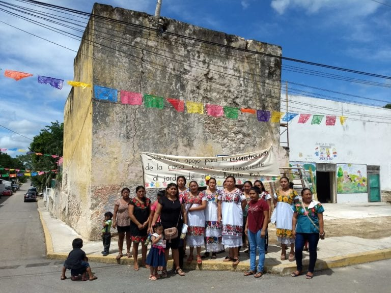Protestan dueños de casas coloniales de Tihosuco contra declaratoria