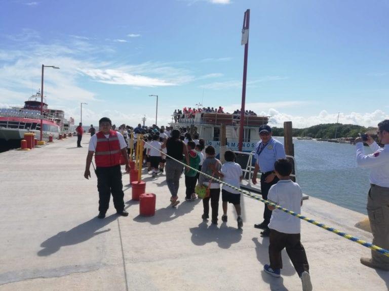 Simulan evacuación de Holbox por tsunami