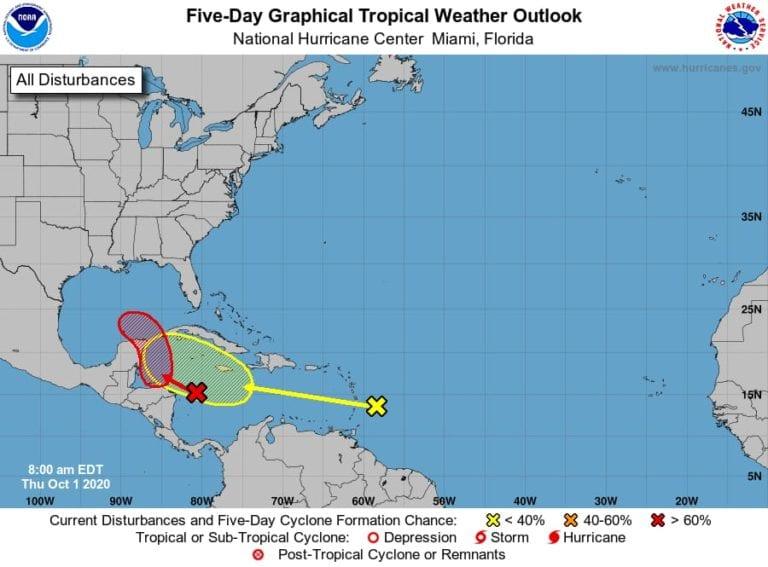 Se avecinan lluvias en Quintana Roo por depresión tropical